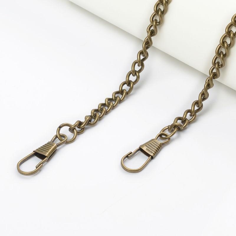 10pcs/lot 40cm Replacement Metal Chain For Shoulder Bags Crossbody Handbag Antique Bronze DIY Bag Strap Accessories Hardware