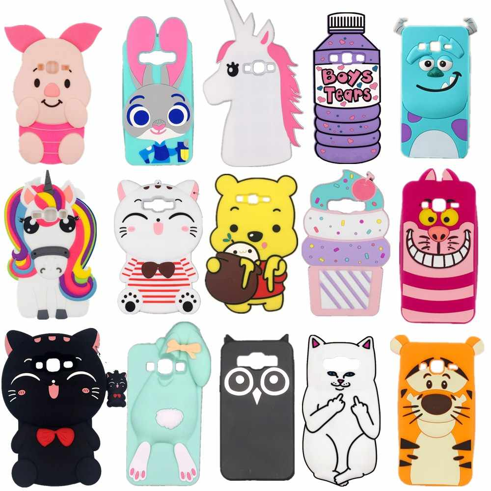 3D Silicon Cupcake Pig Uil Kat Pil Cactus Cartoon Soft Phone Case Cover Voor Samsung Galaxy A5 J5 A7 J7 j1 J3 2015 2016 2017