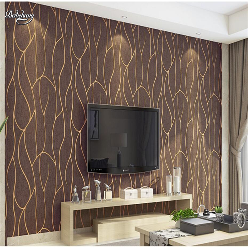 beibehang Simple TV background wallpaper thick deerskin leather bedroom living room non - woven striped 3D wallpaper beibehang environmentally friendly wallpaper back to basics simulation wood striped wallpaper villa restaurant bedroom backgroun