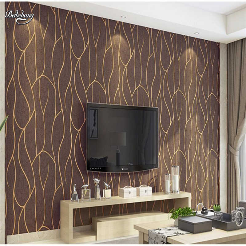 Beibehang Simple Tv Background Wallpaper Thick Deerskin Leather Bedroom Living Room Non Woven Striped 3d Wallpaper Tv Background Wallpaper Background Wallpaperwallpaper Thickness Aliexpress