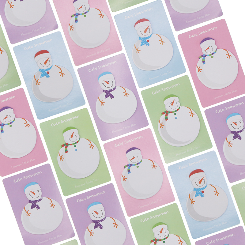 5 PCS 2017 Cute Kawaii Korean Snowman Christmas Gift Planner Stickers Sticky Notes Memo Pad Post It Office And School Supplies