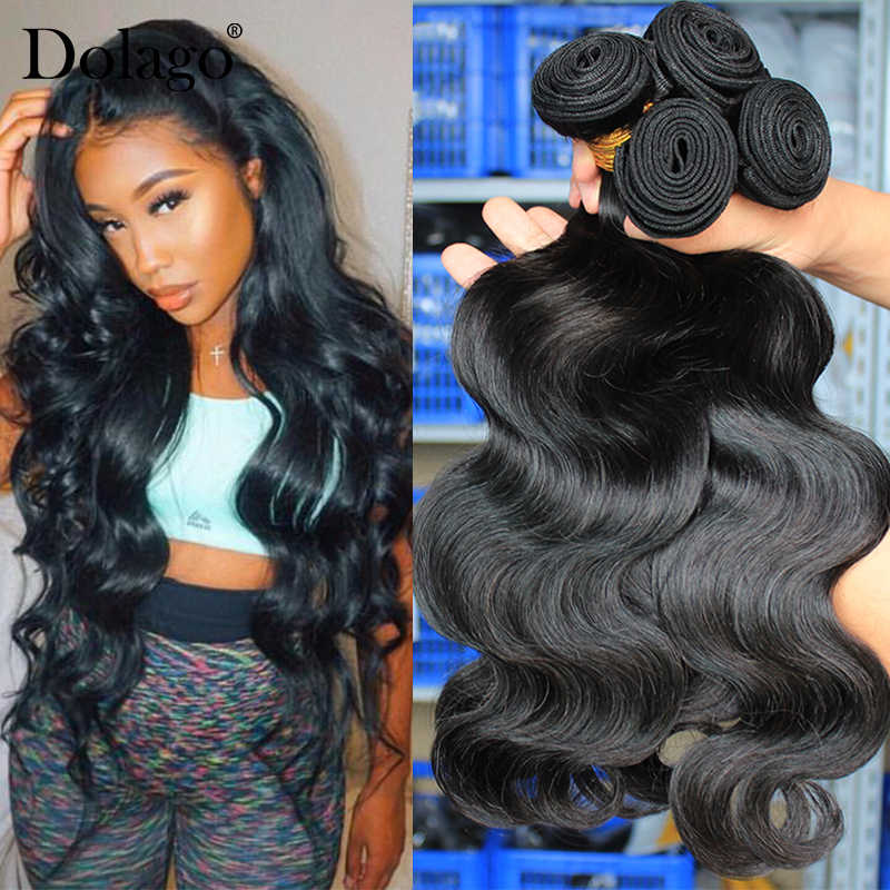 Body Wave Bundles Brazilian Hair Weave Bundles With Closure Human Hair Bundle Extension 1/3/4pcs Remy Dolago Hair Products