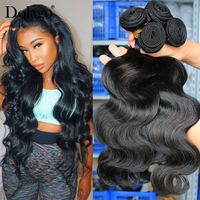 Body Wave Bundles Brazilian Virgin Hair Weave Bundles With Closure Human Hair Bundle Extension 1/3/4pcs Raw Dolago Hair Products