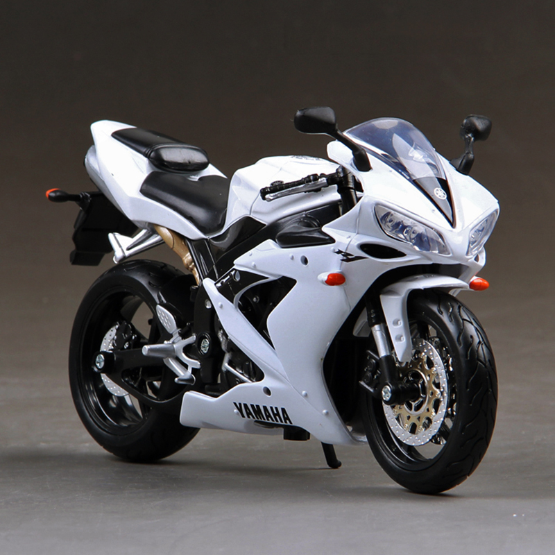 maisto ymh yzf r1 white motorcycle motorcycle model 1 12 scale metal diecast diecast models. Black Bedroom Furniture Sets. Home Design Ideas