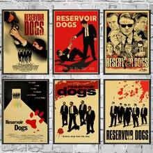 Clássico filme reservatório cães retro poster decoração para casa kraft jogo cartaz desenho pintura adesivos de parede