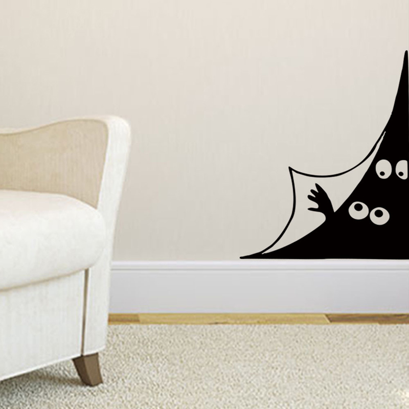 Funny Peeping eyes Wall Sticker Door Wall corner Home Decor living room Background decoration Mural art Decals Creative stickers in Wall Stickers from Home Garden