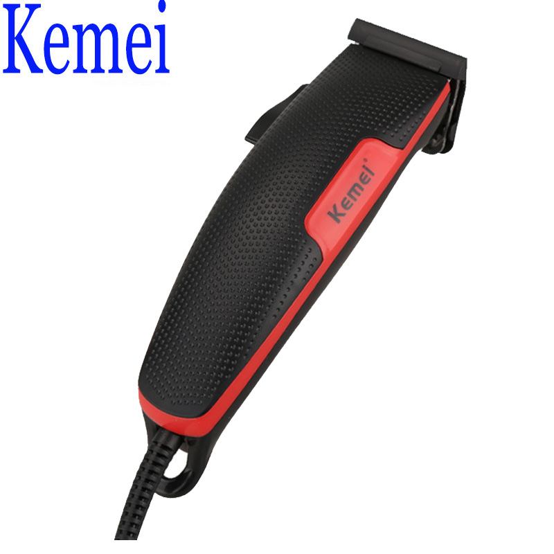 Kemei KM-4801 Wired Electric Hair Trimmer Professional for Hairdresser Classic Black Hair Clipper for Artist or Family 230V 9W