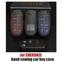 Factory Price Sale Car Key Cover Case 100 Genuine Leather Sewing By Hand Autoparts Wholesale Fit
