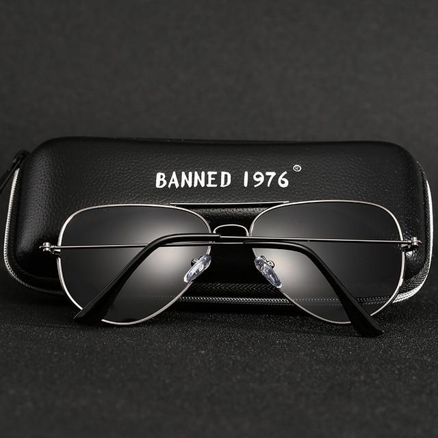 Prohibido clásico 1976 polarizadas HD de Metal Marco de gafas de sol de diseño de las mujeres de los hombres femenino nombre de marca, gafas Vintage gafas 3