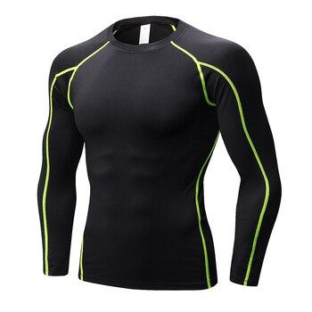 YEL לוגו מותאם אישית מהיר יבש כדורגל ג 'רזי כושר גרביונים כושר ספורט כדורסל גברים של חולצה פיתוח גוף Rashgard חולצה