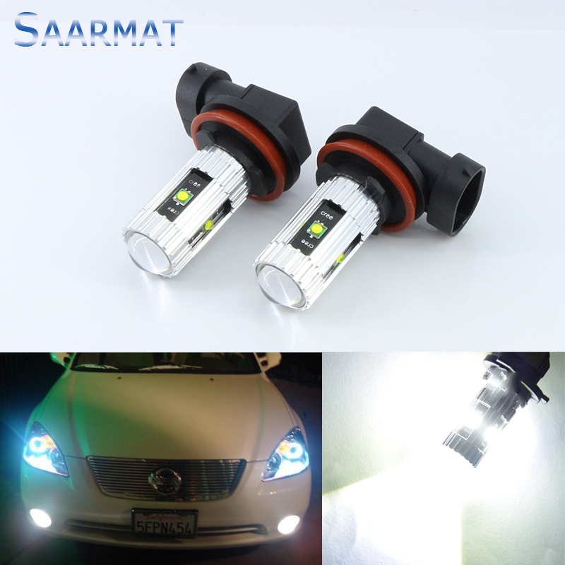 2x  For Nissan Pathfinder 05-2010 H8 H11  High Power  w/ CREE CHIPS  25W Car special front fog lamps LED Fog Lights lamps Bulb xyivyg chrome mirror 2 door handle cover without smart hole for nissan pathfinder 05 06 07 08 09 10 11 12