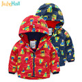 Jiuhehall 2017 Hot Sale Autumn Winter Boys Plus Velvet Jackets Long Sleeve Children Outwear Cartoon Printing Kid Clothing CMB982