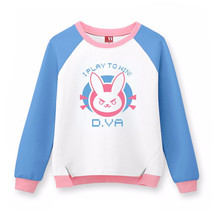 Free shipping hot game new High Quality Game Character OW D.VA 100% cotton jacket /Hoodie Sweatshirt halloween Cosplay Costume