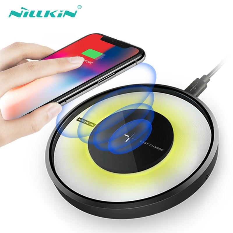 Nillkin Rapide Chargeur Sans Fil Qi Charging pad Pour Samsung Galaxy S9/S9 +/S8/S7 Bord S6, Qi Chargeur Sans Fil pour iPhone 8/8 plus/x