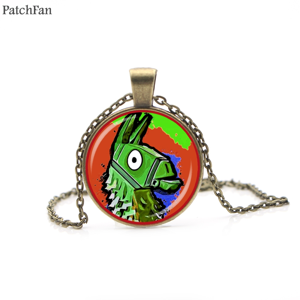 12pcs/lot Patchfan FPS Game Fortnite Battle Royale Necklace Time Gem Pendant necklace for women men couple party favors A0506