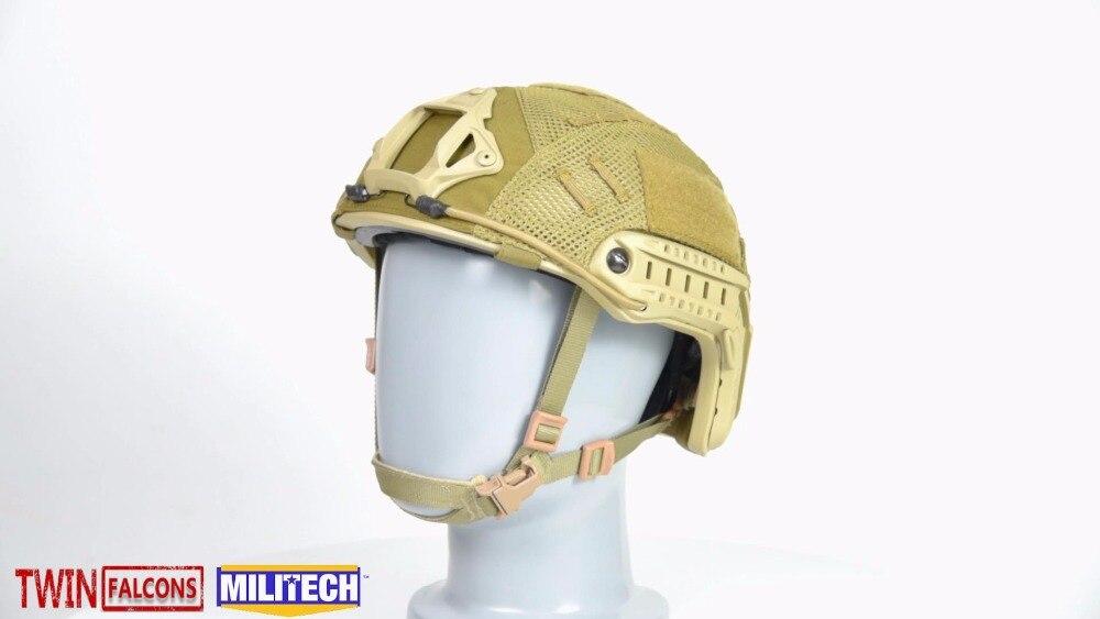 MILITECH TWINFALCON Tactical Helmet Copertura Per FAST Taglio Alto Ballistic Helmet 500D Genuino Cordura Nylon Mesh di Protezione del Casco
