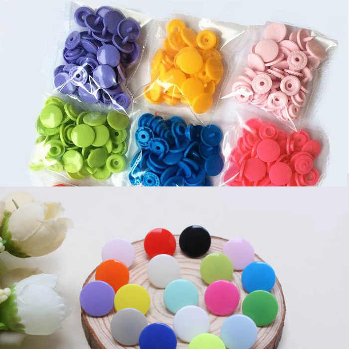 Arts Crafts 4in one Snap Buttons T5 12.4mm Fasteners Press Stud plastic resin for handmade Gift Box Scrapbook DIY Sewing Wh 1