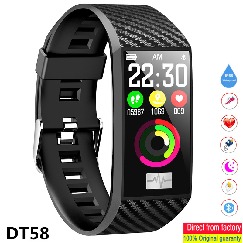 DTNO.1 DT58 Smart Band Waterproof Heart Rate Measurement 1.14 Inch IPS Screen Smart Watch for Android IOS Smart Bracelet image