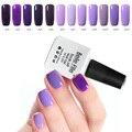 10 ml Gel Sistema de Color Púrpura Esmalte Lak Carimbo De Unha Uv Led de La Lámpara de Acrílico Polvo Vernis Semi Permanente Del Arte Del Clavo decoraciones