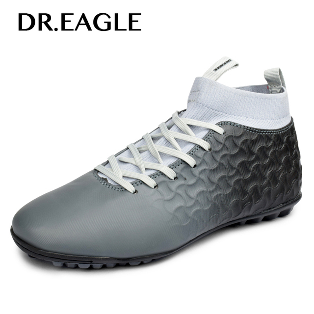 DR.EAGLE Indoor tf/turf boots kids cheap soccer shoes men football krasovki football boot ankle sock cotton sock futsal cleats