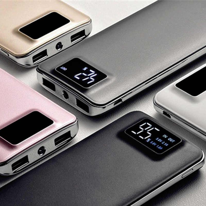 قوة البنك 30000mAh ل شياو mi mi 2 USB شاحن محمول متنقل بطارية خارجية Poverbank ل فون XS ماكس 8 8 زائد