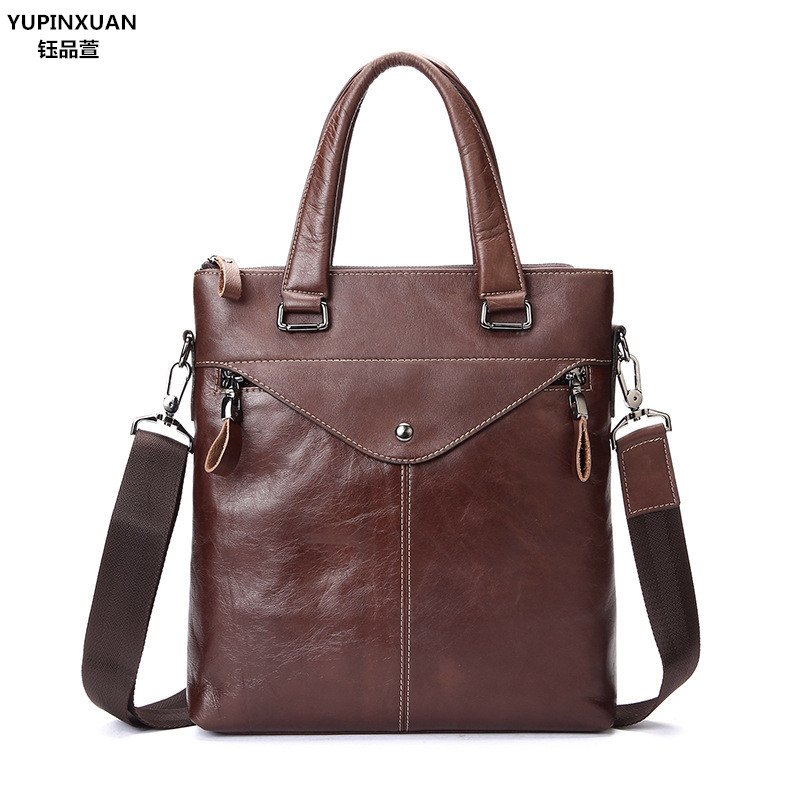 Здесь продается  YUPINXUAN Luxury Genuine Leather Handbags for Men Cow leather Messenger Bag Fashion Briefcases Businessmen Handbag Cowhide Chile  Камера и Сумки