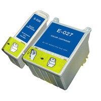 Full Ink 2 PCS Ink Cartridge T026 T027 Printer For Epson Stylus Phot 810 820 830
