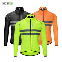 WOSAWE Bicycle Bike Ciclismo Windbreaker High Visibility Jacket Jersey Ultralight Water Repellent Windproof Cycling