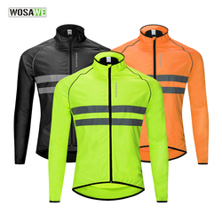 WOSAWE Bicycle Bike Ciclismo Windbreaker High Visibility Jacket Jersey Ultralight Water Repellent Windproof Cycling Jacket