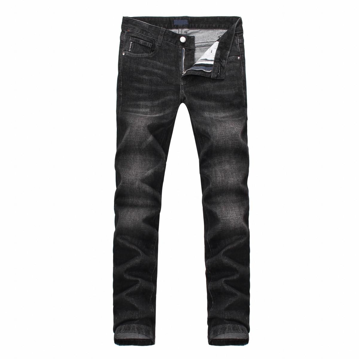 купить Freeshopping High Quality Fashion Men Jeans New Arrival Design Slim Fit Fashion Jeans For Man Good Quality Black Elastic pants по цене 3693.32 рублей