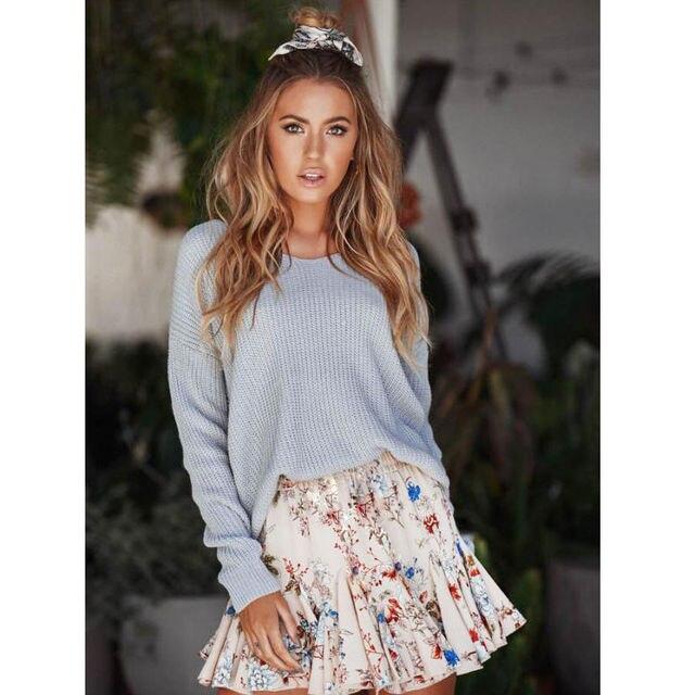 38c84dae42 New Hot Women Sweet Floral Print Short Skirt High Waist Flared Pleated Skirt  New Fashion Floral Print Mini Skirts