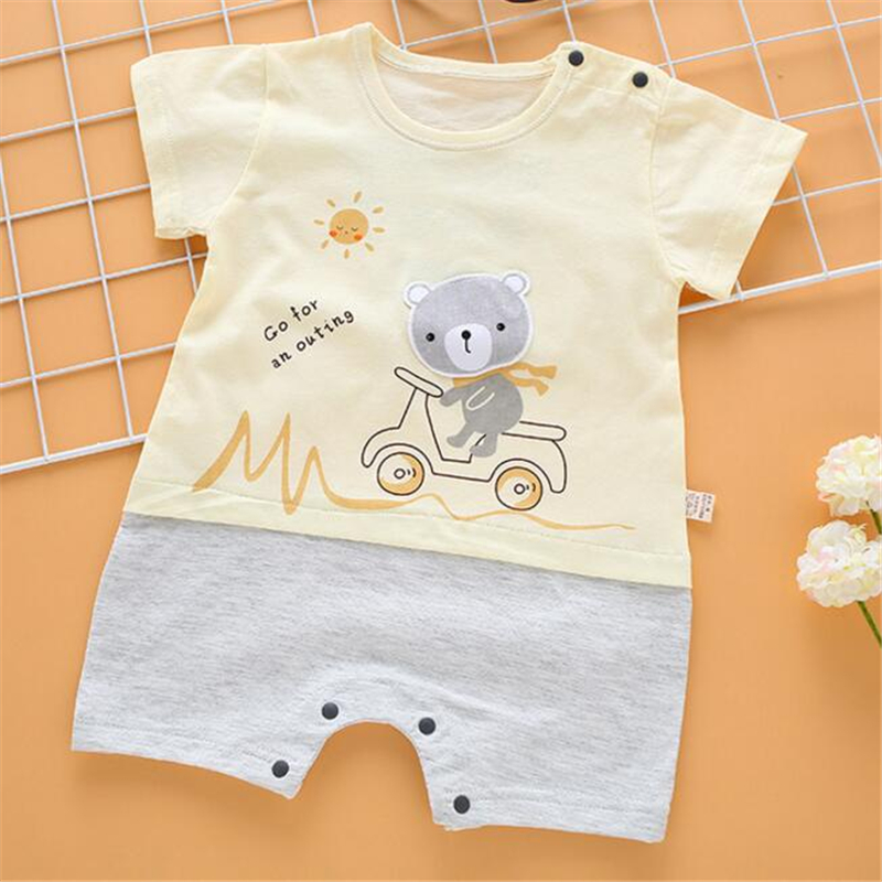 2019 Summer Baby   Romper   Thin Cotton Baby Clothing 4 Colors Cute Infant Baby Girls Clothes Jumpsuit Toddler Newborn Outfits