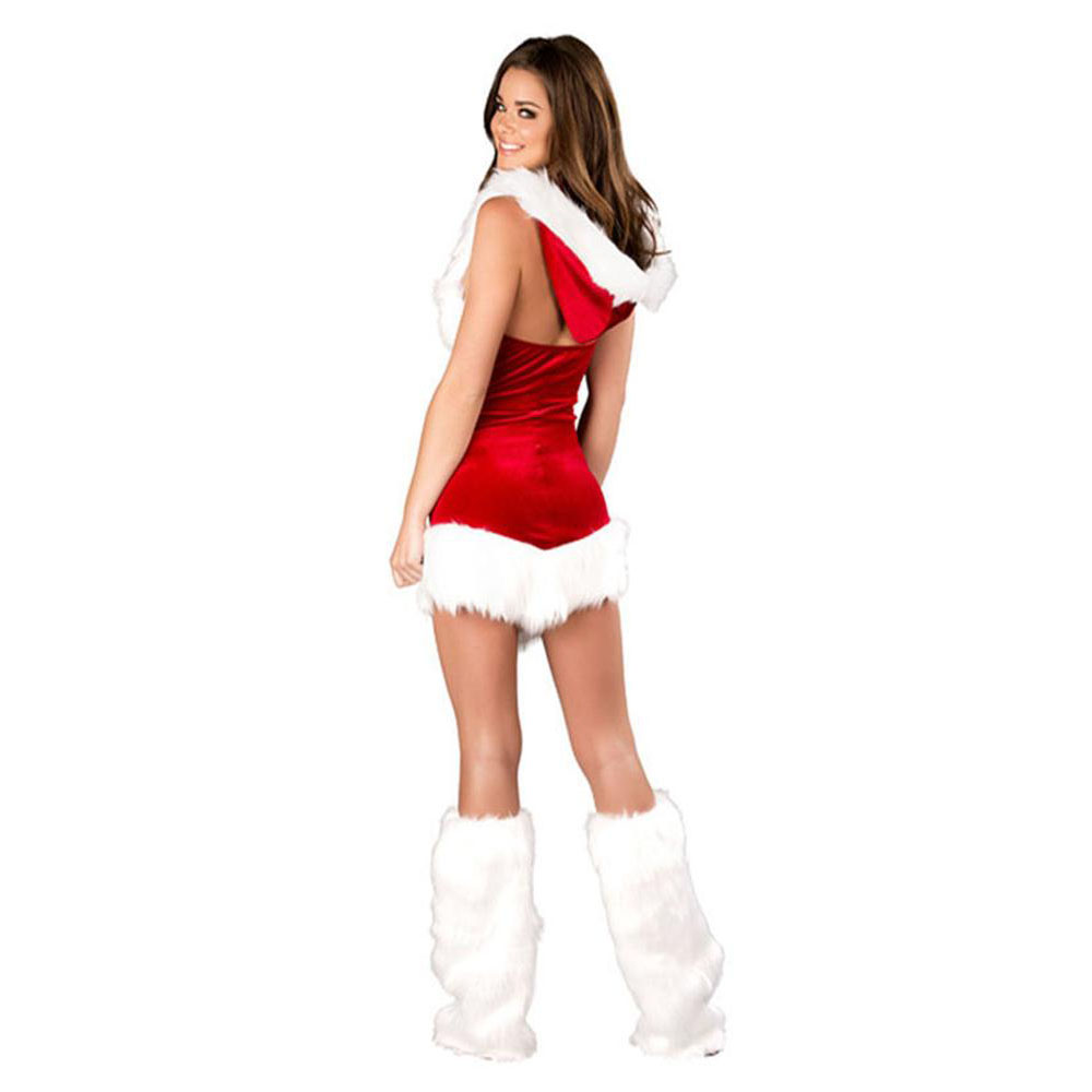 Plus Size Christmas Costumes.Us 15 99 New Year Cosplaying Party Velvet Christmas Costumes For Adult Women Plus Size Sexy Santa Role Playing Costumes Underwear Dress In