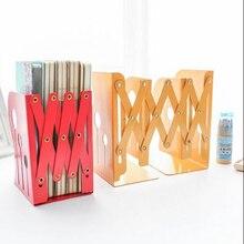 Retractable folding Fashion Desk Book holder metal office file desk organization font b storage b font