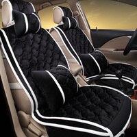 Новые Теплые серии бархатные сиденья жилет Стиль Дизайн Универсальный Автомобильный Подушки стайлинга автомобилей