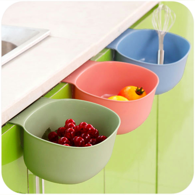 New Design Plastic Kitchen Storage Box Portable Dust Bin Desktop Kitchen Rubbish Garbage Organizer Cupboard Hanging Box -30