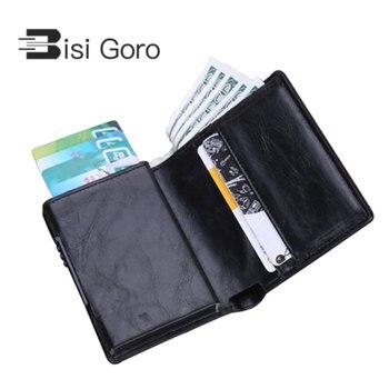 BISI GORO/кредитной держатель для карт карты ID держатель Для мужчин и Для женщин Анти RFID защиты держатель для карт многофункциональный карты бу...