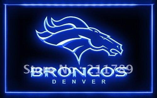 A061 B DENVER BRONCOS NFL Football Bar Pub LED Light Sign