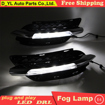 Car Styling Daytime Running Lights for B200 LED DRL 2011-2013 B200 LED Fog Light Front Lamp Automobile Accessories