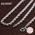 BALMORA 100% Verdadera plata de Ley 925 de Plata Tailandesa 18-32 pulgadas Retro Collares para Hombres Accesorios Colgante Cadena de Eslabones Bijoux SZ0157