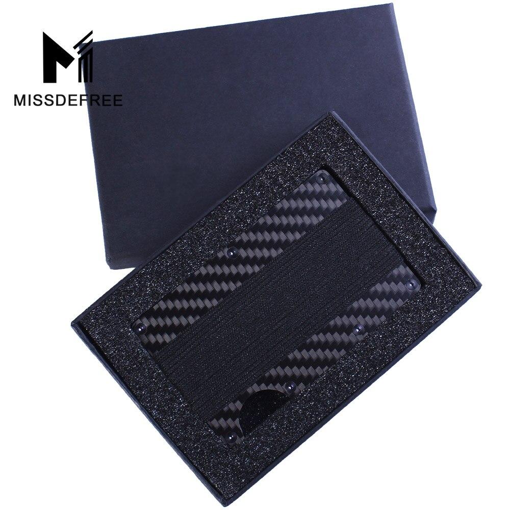 Designer Stainless Steel Carbon fibre Cash Money Clip Credit Card Holder gift