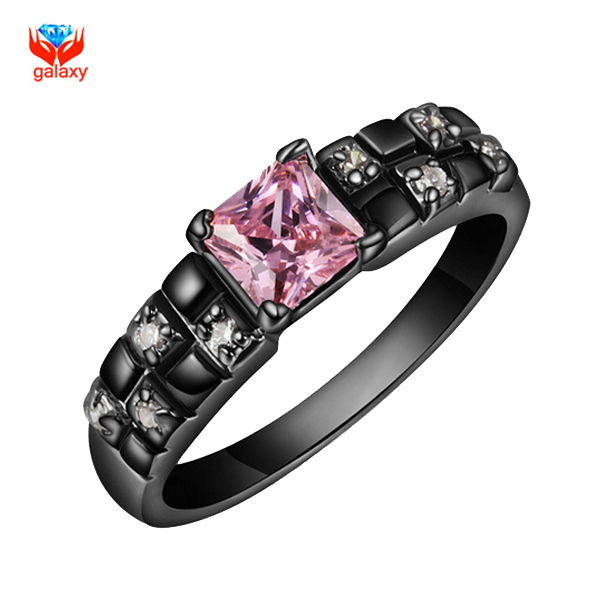 Online Get Cheap Pink and Black Engagement Ring Aliexpresscom