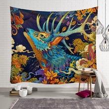 купить Mandala Hippie Tapestry Wall Hanging Bohemia Colorful Animals Macrame Tapestry Witchcraft Psychedelic Home Decor Blanket по цене 390.79 рублей