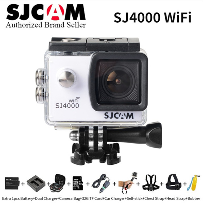 Original SJCAM SJ4000 Wifi Action Camera 1080P HD 2.0 LCD Diving 30M Waterproof pro yi mini helmet camcorder sports DV sj cam k original sjcam sj4000 series 1080p hd 2 0 sj4000 wifi camera diving 30m waterproof underwater camera sport action dv