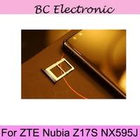 For ZTE Nubia Z17S NX595J New Original Sim Card Holder Tray Card Slot For ZTE Nubia