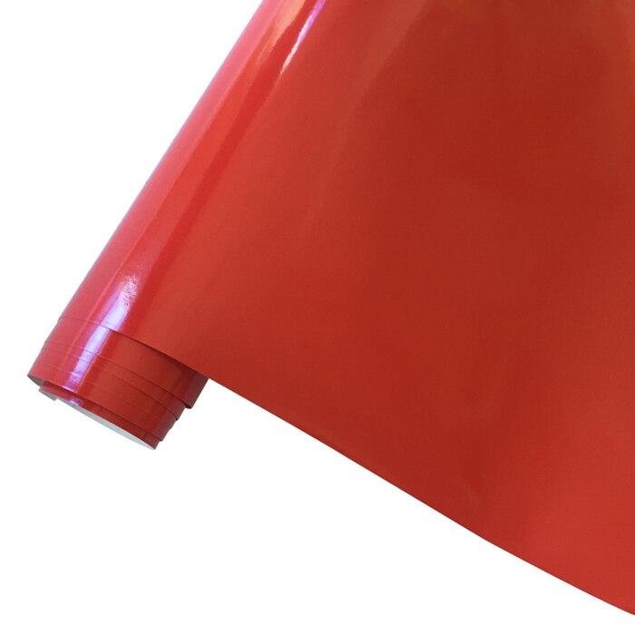 10/20 Вт, 30 Вт, 40/50*152 см черная, глянцевая, виниловая пленка глянцевый Автомобильная фольговая пленка Стикеры с воздушных пузырьков мотоцикл Обёрточная бумага(большой - Название цвета: Red