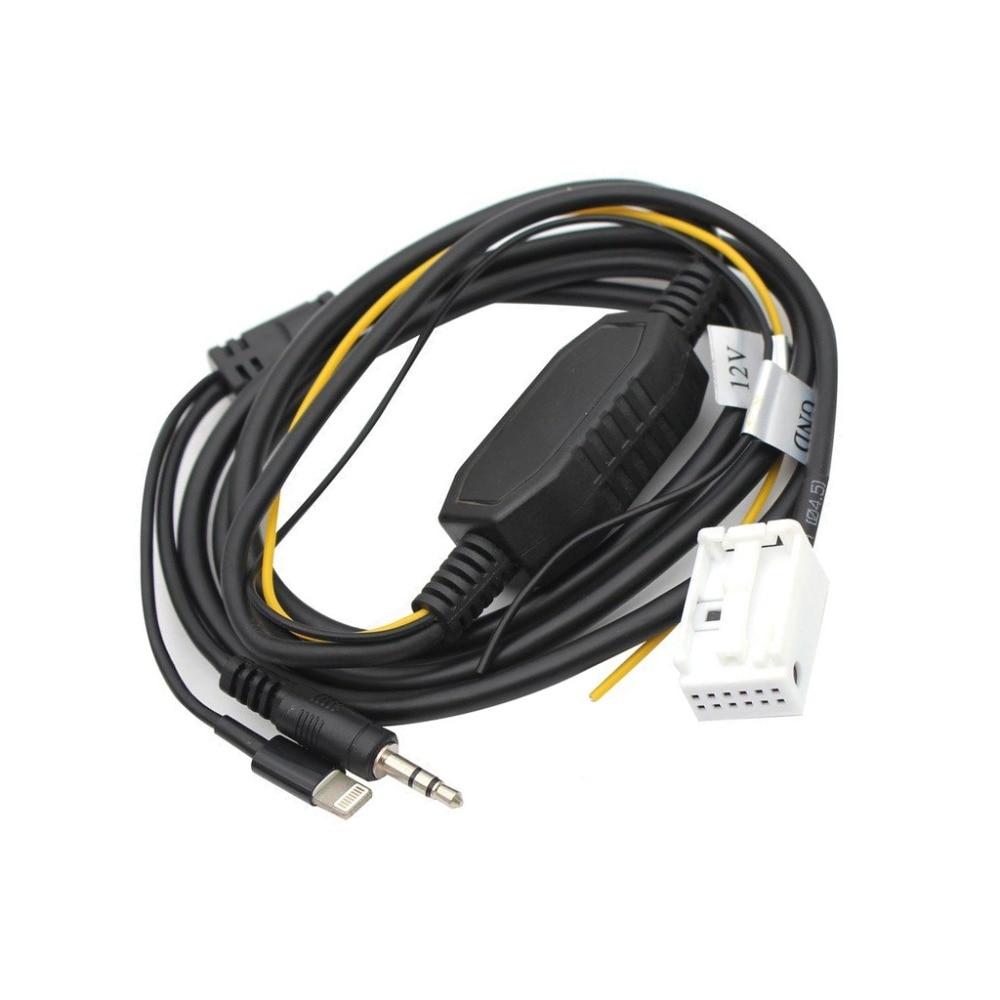 imágenes para Car Audio Aux Jack para Conector de $ number Pines Cable Adaptador Para BMW E60 e81 e82 e63 e64 e66 e70 e90 para iphone 5 6 6 s