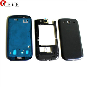Image 2 - 10sets Full Housing for Samsung Galaxy S3 I9300 i9305 s3 neo 9300i 9308i Front Frame+Middle Frame+Battery Cover door Repair