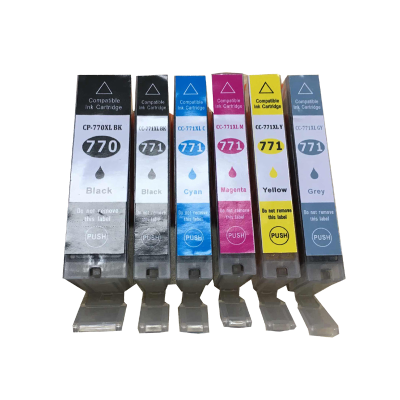 PGI-770 CLI-771 Ink Cartridges for Canon PGI770 CLI771 PIXMA MG6870 MG5770 MG7770 Printer pgi 425 cli 425 refillable ink cartridges for canon pgi425 pixma ip4840 mg5140 ip4940 ix6540 mg5240 mg5340 mx714 mx884 mx894