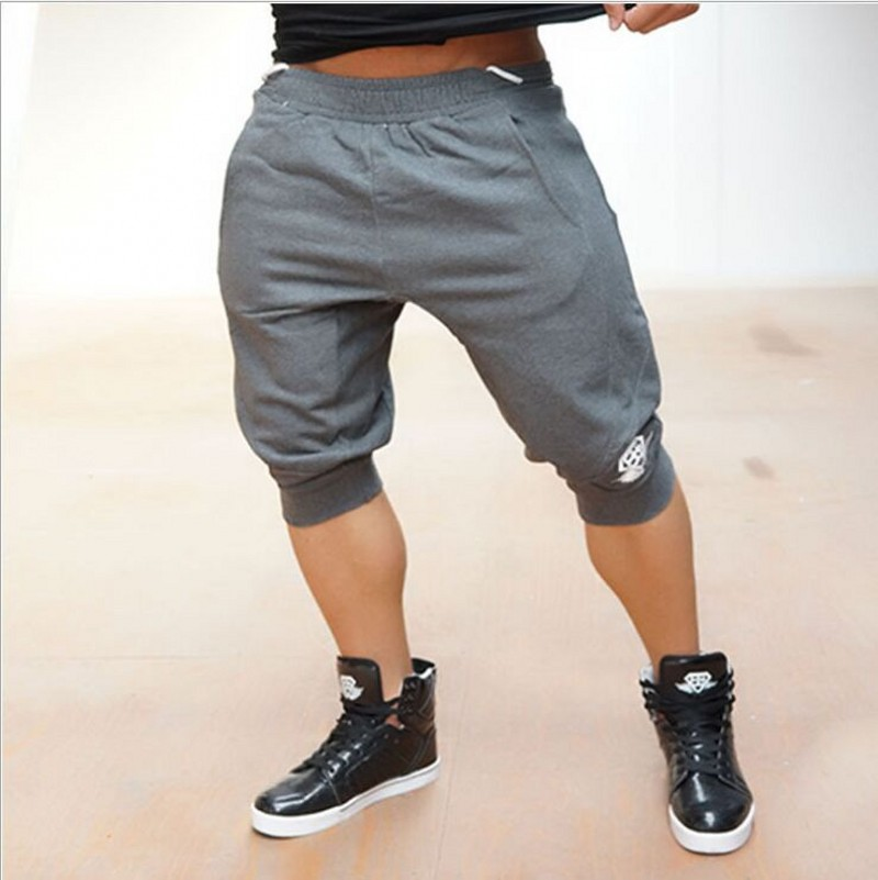 bodybuilding Professional fitness Brand men s shorts with Gold powerhouse workout shorts cotton fashionable skinny shark